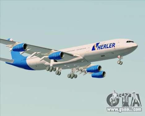 Airbus A340-300 Air Herler for GTA San Andreas upper view
