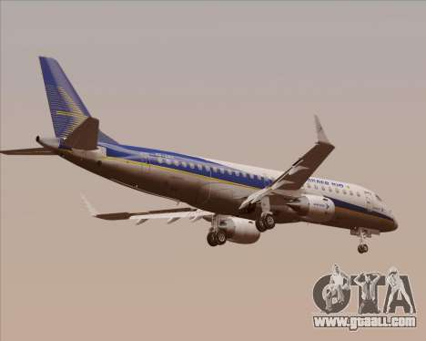 Embraer E-190-200LR House Livery for GTA San Andreas back view