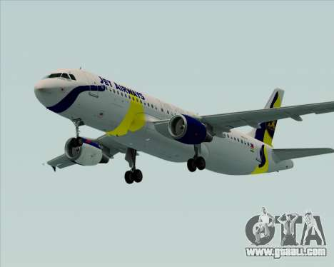 Airbus A320-200 Jet Airways for GTA San Andreas back left view