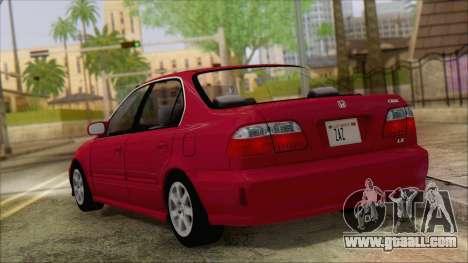 Honda Civic 2000 for GTA San Andreas left view