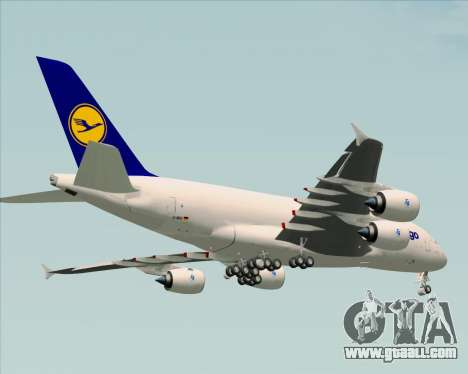 Airbus A380-800F Lufthansa Cargo for GTA San Andreas bottom view