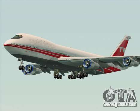 Boeing 747-100 Trans World Airlines (TWA) for GTA San Andreas side view