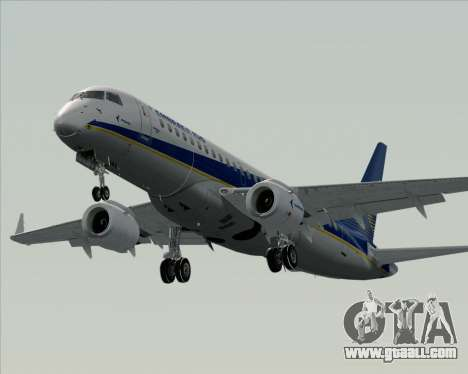 Embraer E-190-200LR House Livery for GTA San Andreas bottom view