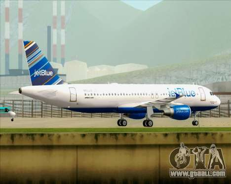 Airbus A320-200 JetBlue Airways for GTA San Andreas wheels