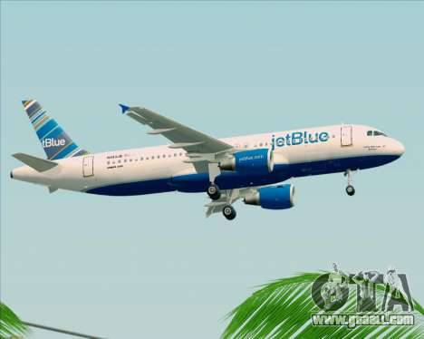 Airbus A320-200 JetBlue Airways for GTA San Andreas side view