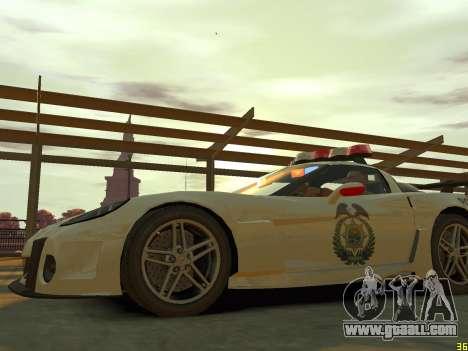 Chevrolet Corvette Z06 Police for GTA 4 side view