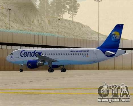 Airbus A320-200 Condor for GTA San Andreas upper view