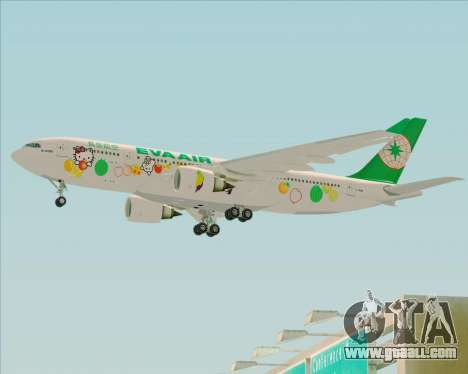 Airbus A330-200 EVA Air (Hello Kitty) for GTA San Andreas back left view