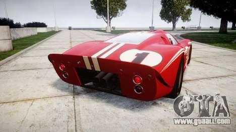 Ford GT40 Mark IV 1967 PJ 1 for GTA 4 back left view