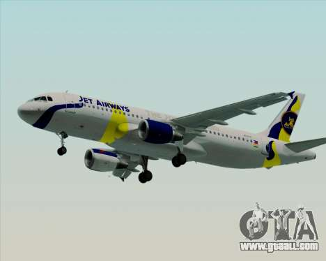 Airbus A320-200 Jet Airways for GTA San Andreas wheels