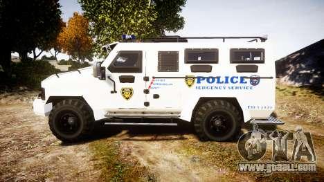 SWAT Van Police Emergency Service for GTA 4 left view