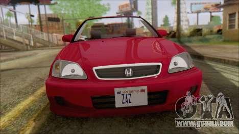 Honda Civic 2000 for GTA San Andreas back left view