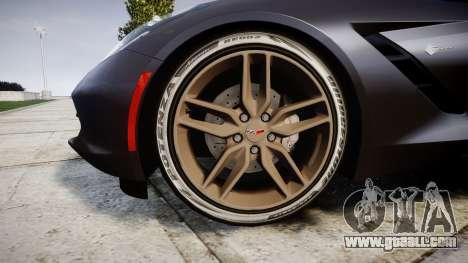 Chevrolet Corvette C7 Stingray 2014 v2.0 TireBr3 for GTA 4 back view