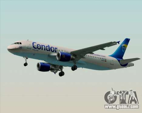 Airbus A320-200 Condor for GTA San Andreas side view