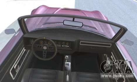 Invetero Coquette Classic v1.1 Open Top for GTA San Andreas back left view