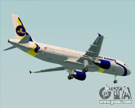 Airbus A320-200 Jet Airways for GTA San Andreas back view