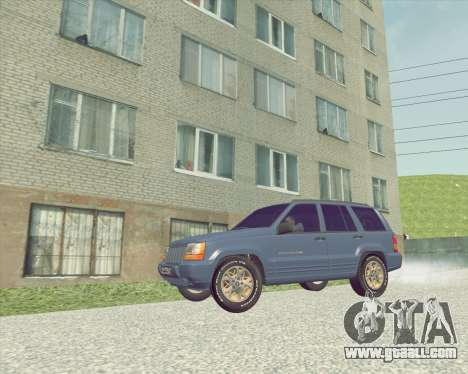 Jeep Grand Cherokee ZJ for GTA San Andreas back left view