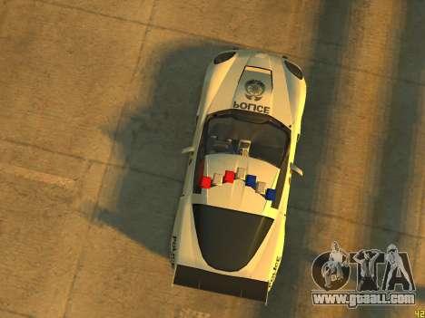 Chevrolet Corvette Z06 Police for GTA 4 back view