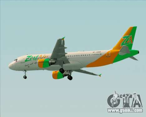 Airbus A320-200 Zest Air for GTA San Andreas back view