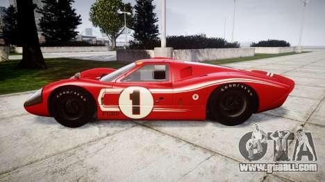 Ford GT40 Mark IV 1967 PJ 1 for GTA 4 left view