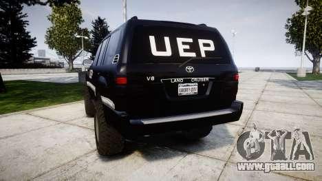 Toyota Land Cruiser 100 UEP [ELS] for GTA 4 back left view