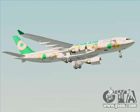 Airbus A330-200 EVA Air (Hello Kitty) for GTA San Andreas bottom view