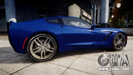 Chevrolet Corvette C7 Stingray 2014 v2.0 TireYA3 for GTA 4 left view