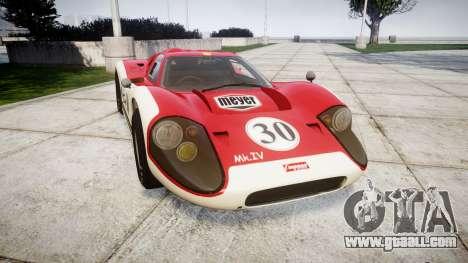 Ford GT40 Mark IV 1967 PJ Meyer 30 for GTA 4