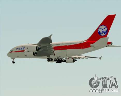 Airbus A380-800 Sichuan Airlines for GTA San Andreas side view