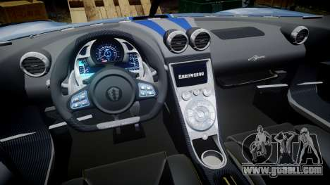Koenigsegg Agera 2011 [EPM] [Update] for GTA 4 back view