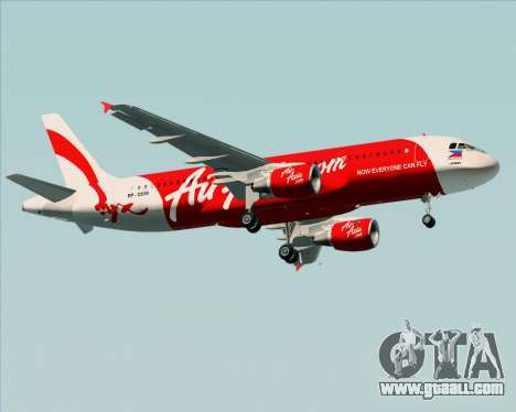 Airbus A320-200 Air Asia Philippines for GTA San Andreas side view