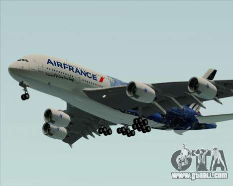 Airbus A380-800 Air France for GTA San Andreas back view