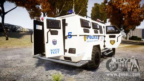 SWAT Van Police Emergency Service [ELS] for GTA 4 back left view
