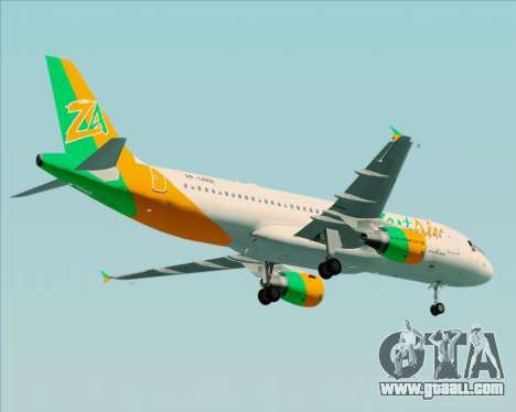 Airbus A320-200 Zest Air for GTA San Andreas side view