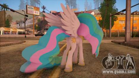 Celestia from My Little Pony for GTA San Andreas second screenshot