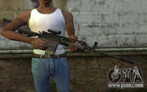 M4A1 from COD Modern Warfare 3 v2 for GTA San Andreas third screenshot