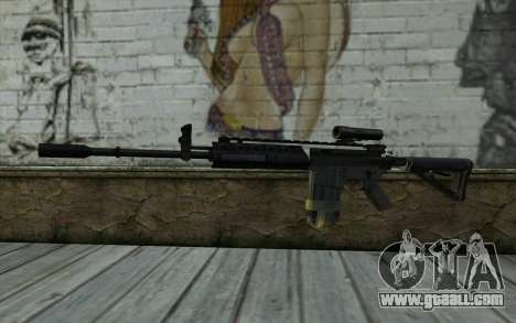 M4A1 from COD Modern Warfare 3 v2 for GTA San Andreas