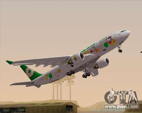 Airbus A330-200 EVA Air (Hello Kitty) for GTA San Andreas