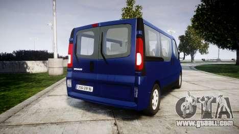 Renault Trafic Passenger for GTA 4 back left view