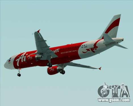 Airbus A320-200 Air Asia Philippines for GTA San Andreas back view