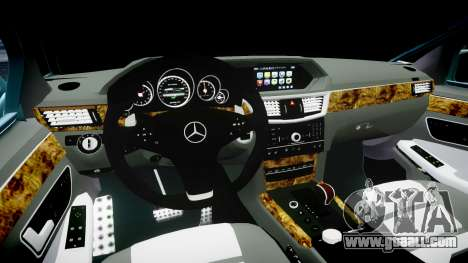 Mercedes-Benz W211 E55 AMG Vossen VVS CV5 for GTA 4 inner view
