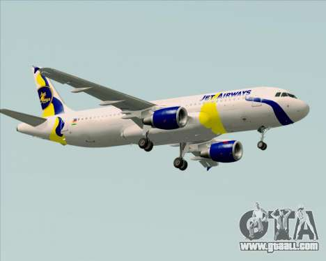 Airbus A320-200 Jet Airways for GTA San Andreas right view