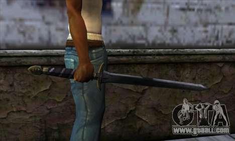 New Katana (Sword) for GTA San Andreas third screenshot