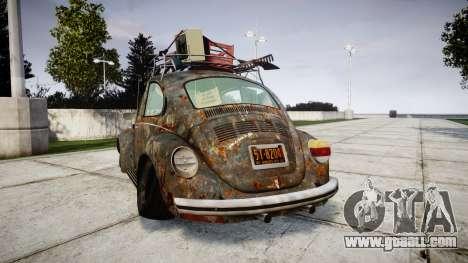Volkswagen Beetle rust for GTA 4 back left view