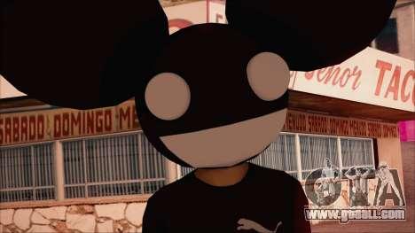 Deadmau5 Skin for GTA San Andreas third screenshot