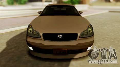 GTA 5 Intruder Tuning Bumpers for GTA San Andreas right view