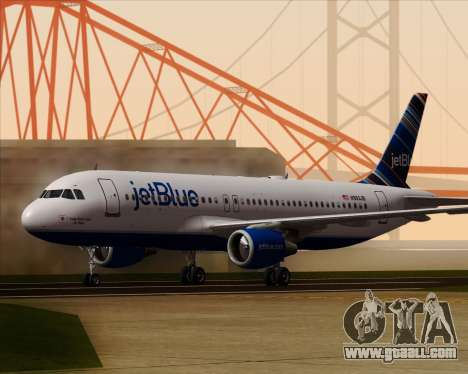 Airbus A320-200 JetBlue Airways for GTA San Andreas left view