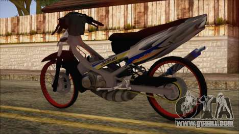 Suzuki Satria R 120 LSCM Aggresive Hiu 2006 for GTA San Andreas left view