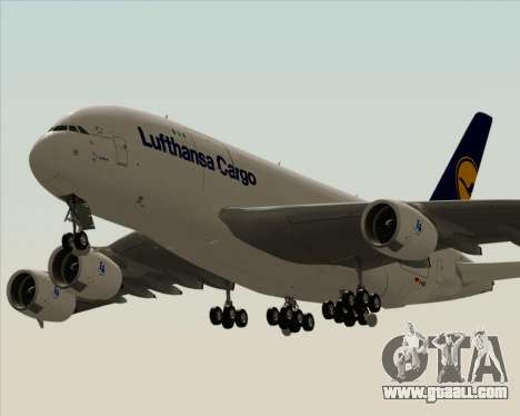Airbus A380-800F Lufthansa Cargo for GTA San Andreas inner view