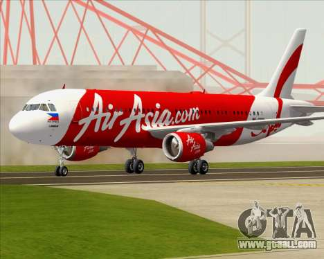 Airbus A320-200 Air Asia Philippines for GTA San Andreas left view